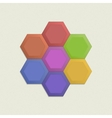 Colorful honeycomb set vector image