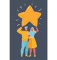 couple with star vector image vector image