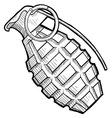 doodle grenade vector image vector image