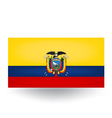 Ecuador Flag vector image vector image