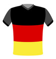 flag t-shirt of germany vector image vector image
