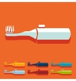 Flat design electric toothbrush vector image