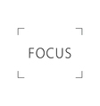 focus black and white vector image vector image