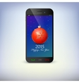 Front view of christmas phone isolated New Year vector image