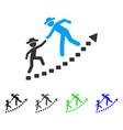 gentlemen education growth flat icon vector image vector image