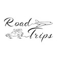 go to a road trip vector image