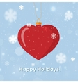 Greeting card Happy Holidays with heart decoration vector image