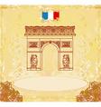 Hand drawn of Paris Triumph Arc - Grunge Ba vector image