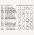 hand drown floral line border set vector image vector image