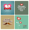Happy fathers day love dad collections vector image vector image