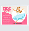 happy girl dressed as princess cute kid in vector image vector image