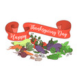 happy thanksgiving day poster template with vector image vector image