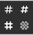 hashtag icons set vector image