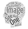 How To Block Hotlinkers text background wordcloud vector image vector image