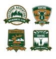 Hunting club emblem icons vector image