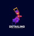 logo detailing gradient colorful style vector image