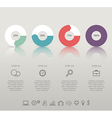 Modern infographic for 4 step vector image vector image