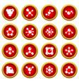 molecule icon red circle set vector image vector image