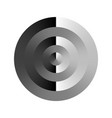 monochrome target with circular gradient effect vector image vector image