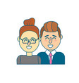 nice couple with hairstyle design vector image