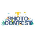 photo contest flat style design vector image vector image