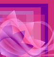 pink flower with waves on a square gradient vector image vector image