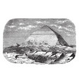 pyramid of dashur approximately vintage engraving vector image vector image