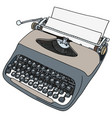 retro gray portable typewriter vector image