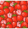 Seamless strawberry vector image vector image