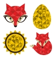 Set of hipster foxes vector image
