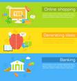 set of social business life horizontal banners vector image vector image
