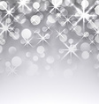 Silver christmas starry background vector image vector image