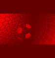 soccer background in red colors vector image vector image