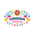 songkran - water festival in thailand thai new vector image vector image