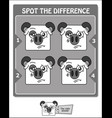 spot the difference black melancholy vector image vector image