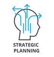 strategic planning thin line icon sign symbol vector image vector image