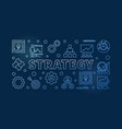 strategy horizontal blue outline vector image vector image