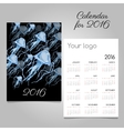 Stylish calendar with jellyfish for your needs vector image vector image