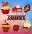 Sweet Desserts Set vector image vector image