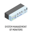 system management monitors isolated electronic vector image