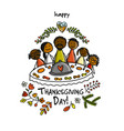 thanksgiving day family together have a dinner vector image vector image