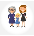 three ages of women from child to senior vector image vector image