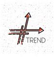 trend symbol with arrow vector image