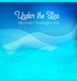 underwater background abctract vector image vector image