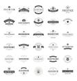 Vintage Logos Design Templates Set vector image vector image