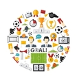 Soccer icon set vector image