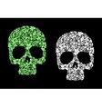 Floral human skull vector image