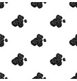 asteroid icon in black style isolated on white vector image vector image