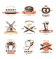 Bakery Shop Emblem Set vector image vector image