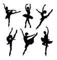 ballet female dancers silhouettes images